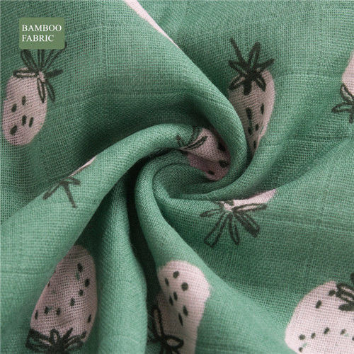 Anti Bacterial Newborn Muslin Swaddle Blankets , Laminated Cotton Fabric